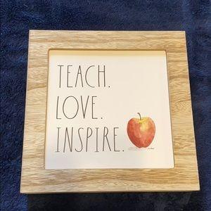 New Rae Dunn Teach Love  Inspire sign
